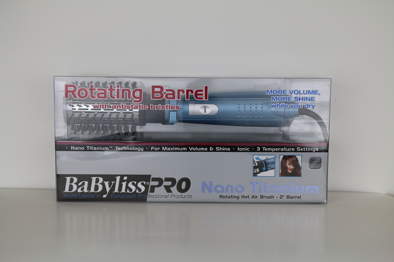 Babyliss Nano Titanium Rotating Barrell 2 inch Hot Air Brush
